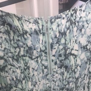 Rose & Olive Tops - Like new green white black and cream blouse